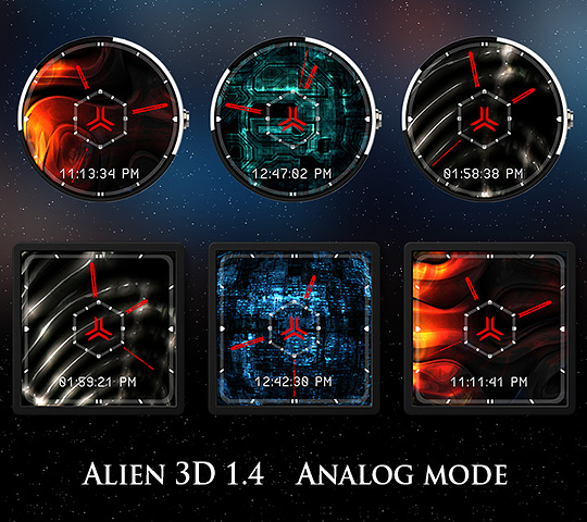 Alien 3D Watch Face