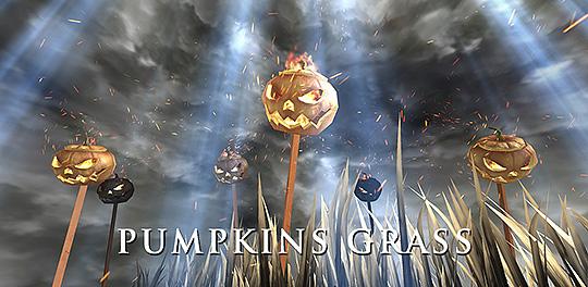 3D Pumpkins Grass FREE Live Wallpaper